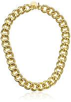 """1AR by UnoAerre 18k Gold-Plated Groumette Chain Link Necklace, 19.7"""""""