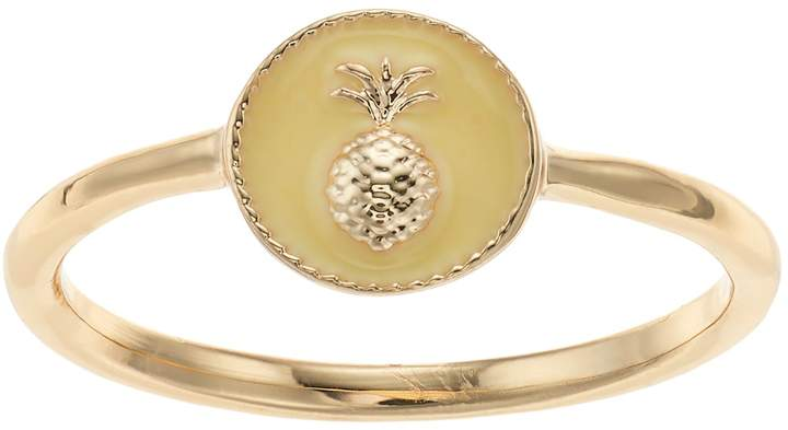 Lauren Conrad Yellow Pineapple Ring