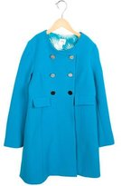 Milly Minis Girls' Double-Breasted Long Coat