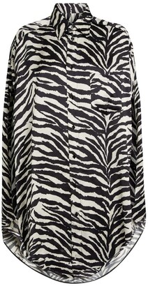 MM6 MAISON MARGIELA + The North Face Zebra-Print Shirt Dress