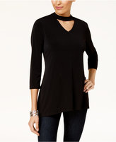 Style&Co. Style & Co Printed Choker Tunic, Created for Macy's