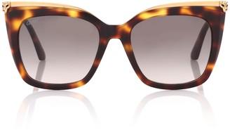 Cartier Eyewear Collection Panthere de Cartier square sunglasses