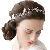 Missgrace Crystal Cluster Bridal Wedding Headband Hair Vine -Wedding hair Accessorice