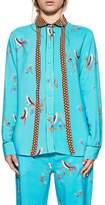 Bagutta Turquoise Diana Shirt