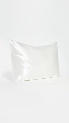Slip White Queen Pillow Case & Pink Sleep Mask