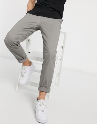 Armani Exchange skinny fit chinos in khaki gray