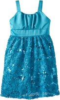 Rare Editions Girls' Plus-Size Soutach Dress