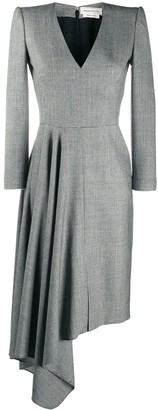 Alexander McQueen Draped Skirt Midi Dress