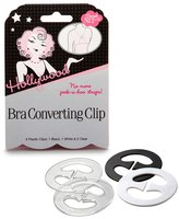 Hollywood Fashion Secrets Hollywood Bra Converting Clip 4 Plastic Clips: 1 Black + 1 White + 2 Clear