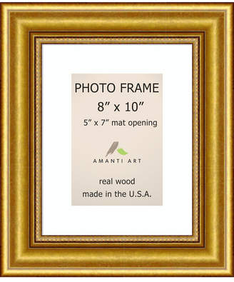 "Amanti Art Townhouse Gold 8"" X 10"" Matted to 5"" X 7"" Opening Wall Picture Photo Frame"