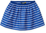 Ralph Lauren Striped Poplin Pull-On Skirt