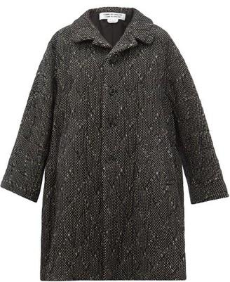 Comme des Garçons Comme des Garçons Single-breasted Wool-blend Tweed Coat - Black White