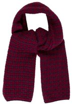 Loro Piana Houndstooth Knit Scarf