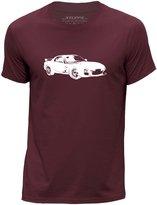 STUFF4 Men's Light Grey Round Neck T-Shirt/Stencil Car Art / RX-7
