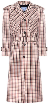 Prada Checked virgin wool coat