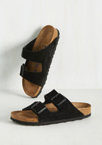 Strappy Camper Sandal in Black Suede - Narrow in 40
