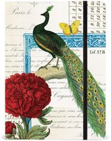 Cavallini & Co. Peacock Notebook, 6 by 8-Inch