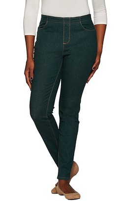 "Denim & Co. How Timeless"" Petite 4-Pocket Denim Jeggings"