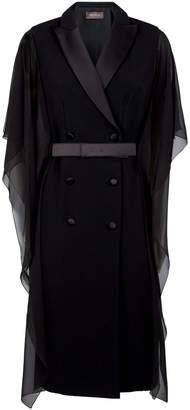Max Mara Silk Trim Tuxedo Dress