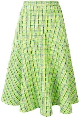 DELPOZO A-line midi skirt