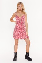 Nasty Gal Womens Red Floral Print Mini Dress - 14, Red