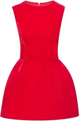 Oscar de la Renta Velvet Puff Hem Mini Dress