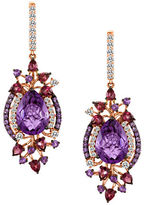 LeVian Amethyst And 14K Strawberry Gold Drop Earrings