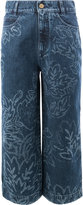 Peter Pilotto floral bleach flared cropped jeans