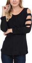 Celeste Black Cutout-Sleeve Tunic - Plus