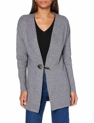 Morgan Women's Gilet Long Boucle Mdodo Cardigan Sweater