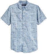 American Rag Men's Patchwork Hieroglyph-Print Shirt, Only at Macy's