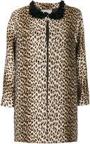 Antonio Marras leopard printed coat - women - Cotton/Acrylic/Polyamide/other fibers - 44