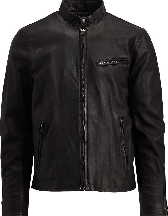 Ralph Lauren Lambskin Cafe Racer Jacket