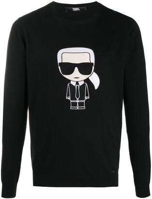 Karl Lagerfeld Paris K/Ikonik fine knit jumper