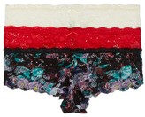Honeydew Intimates Women's 3-Pack Lace Hipster Panties