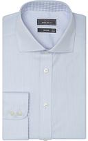 John Lewis Non Iron Semi Plain Regular Fit Shirt, Sky Blue