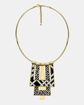 Florence Broadhurst Chinese Key and Pagoda Statement Necklace