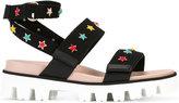 RED Valentino star charm sandals - women - Cotton/rubber - 36