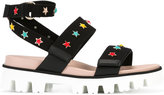 RED Valentino star charm sandals - women - Cotton/rubber - 38