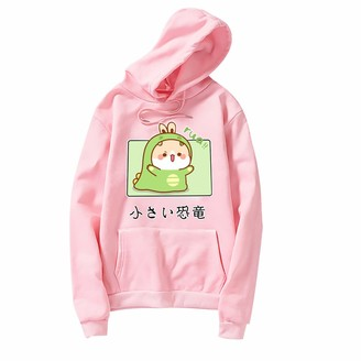 Mllkcao Gifts Ladies Tops for Women PulloverHoodiesSweatshirtJumperLong Sleeves Plus Size Casual Love Printed Valentine's Day Present Pink