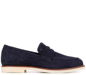 Hogan Suede Slip-On Loafers