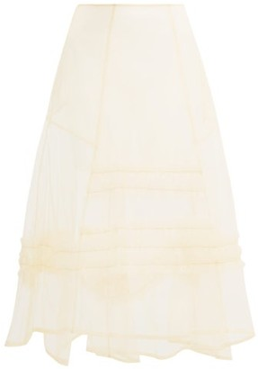 Molly Goddard Alva Frilled Tulle Skirt - Cream