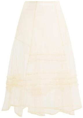 Molly Goddard Alva Ruffle-trim Sheer Tulle Skirt - Womens - Cream