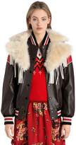 Coach Dream Catcher Leather Bomber Jacket
