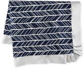 Swankie Blankie Herringbone Plush Receiving Blanket, Navy