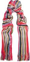 Missoni Striped Crochet-knit Scarf - Red