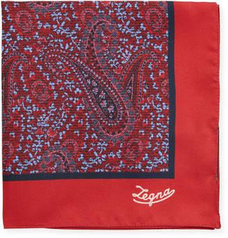 Ermenegildo Zegna Antique Paisley Silk Pocket Square