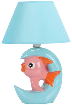 Wholesale Home Decor Fish Lamp With Blue Shade