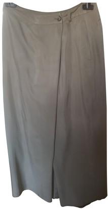 Max & Co. Grey Silk Skirt for Women
