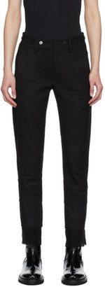Ann Demeulemeester Black Double Cuff Trousers